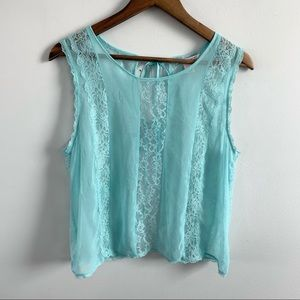 Victoria's Secret | Blue Lace Tie Back Nighty Top